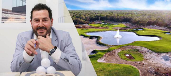 Golf course architect Agustín Pizá and one of his designs.