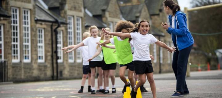 Children at primary school playground