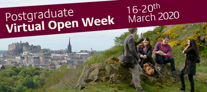 Postgraduate Virtual Open Week banner