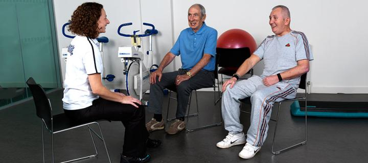 Photo of stroke patients receiving physical therapy