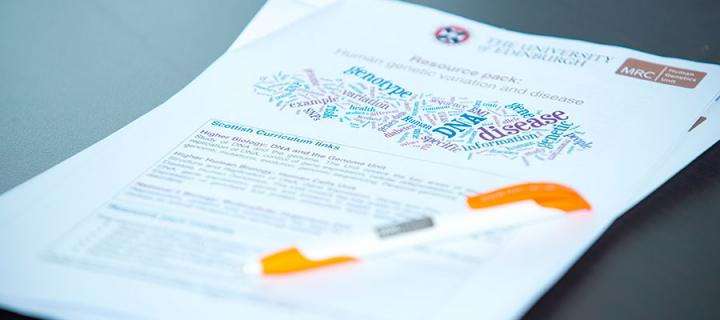 MRC Human Genetics Unit resources for schools