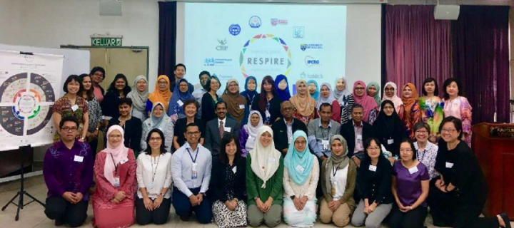 Participants at the RESPIRE Malaysia Workshop October 2018