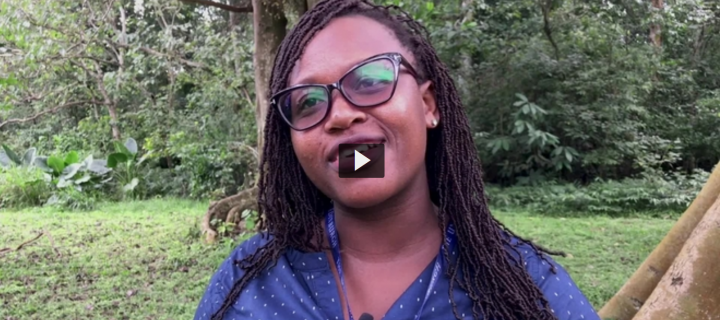 A film still of MSc Global Health and Infectious Diseases student Eleanora Bafour-Agyei
