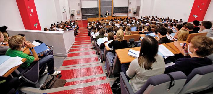 Photo of students in a lecture theatre