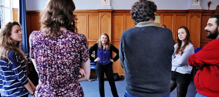 Students taking patr in Shakespeare workshop