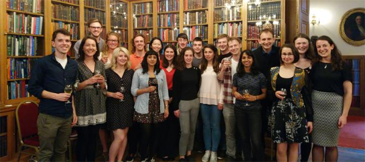 Tissue Repair PhD students pose in library