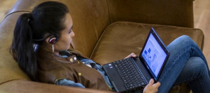 Keep in touch through social media