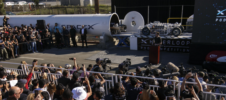 Elon Musk at SpaceX Hyperloop Pod Competition