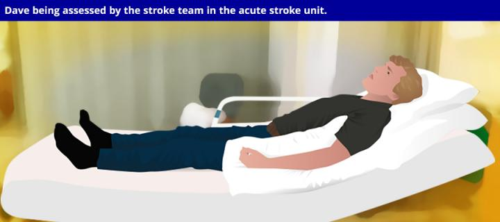 Dave in the acute stroke unit