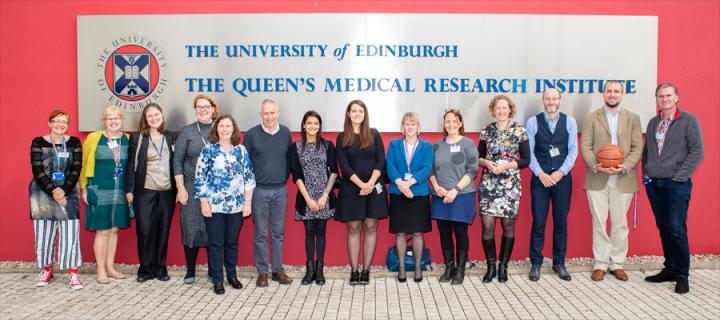 Athena Swan speakers and committee outside QMRI
