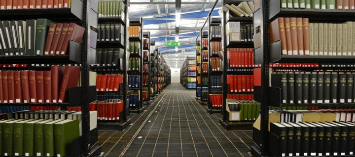 University Collections Facility stacks