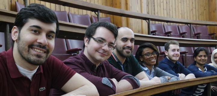 Biomedical students in the Anatomy Lecture Theatre