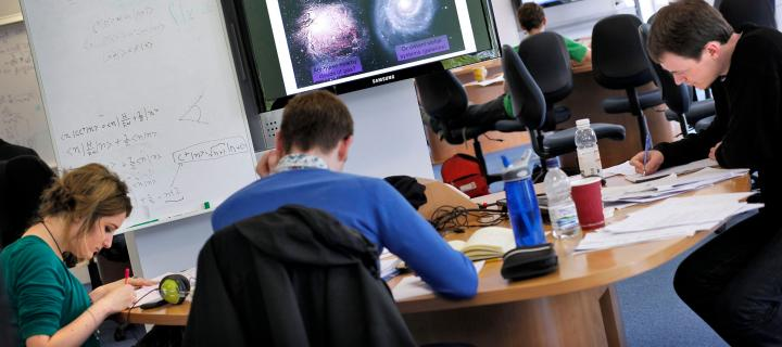 Students at work in the School of Physics and Astronomy