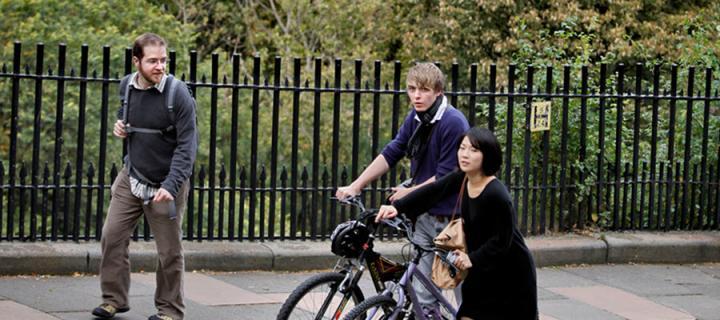 Students on bike