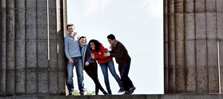 Students on Calton HIll