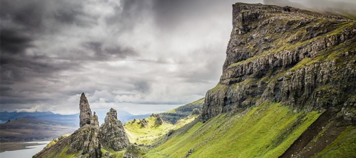 Rock formation in Isle of Skye