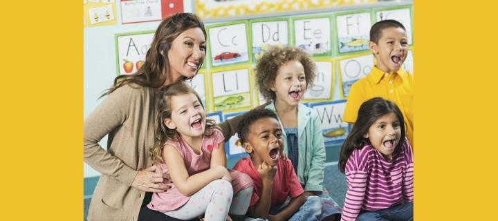 teacher with young children