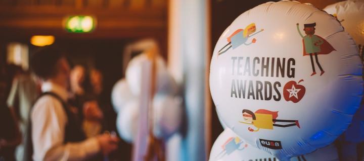 EUSA Teaching Awards balloon at the ceremony