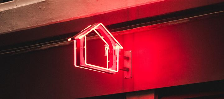 Neon home sign