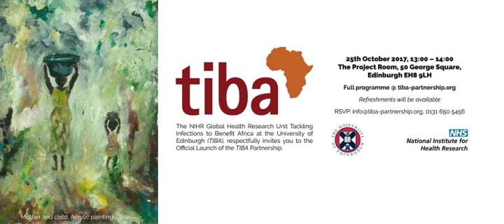 TIBA launch invitation card - painting, logo and details of the event