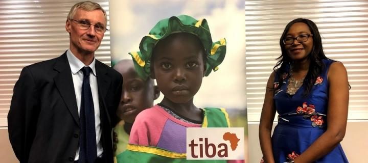 Professors Mark Woolhouse and Francisca Mutapi at TIBA MD projects launch