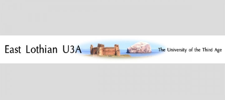 University of the 3rd Age East Lothian group website header
