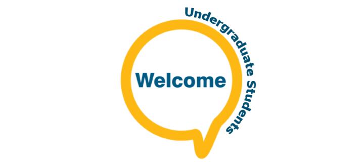 Welcome in speech bubble - Undergraduate