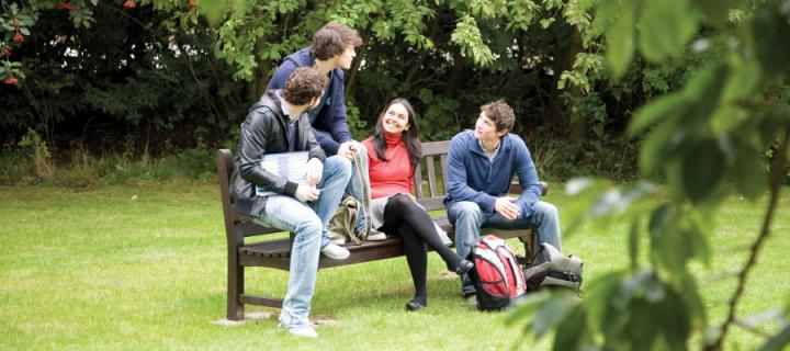 Students in George Square gardens