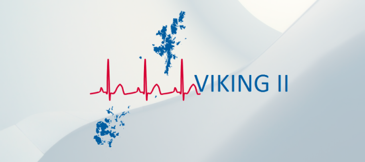 VIKING II Logo with name and Background
