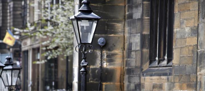 Victorian style streetlamps in Edinburgh