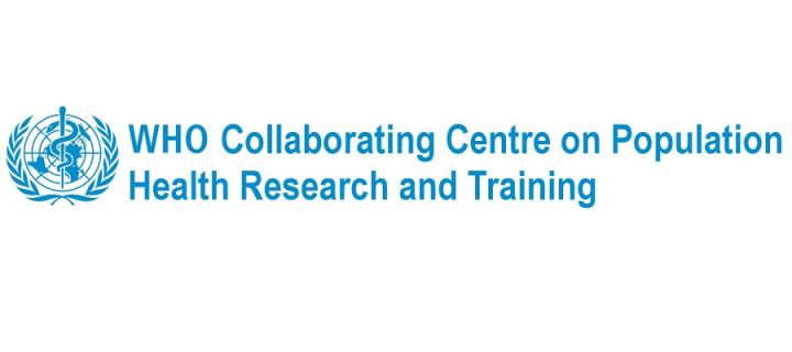 WHO Collaborating Centre on Population Health Research and Training logo