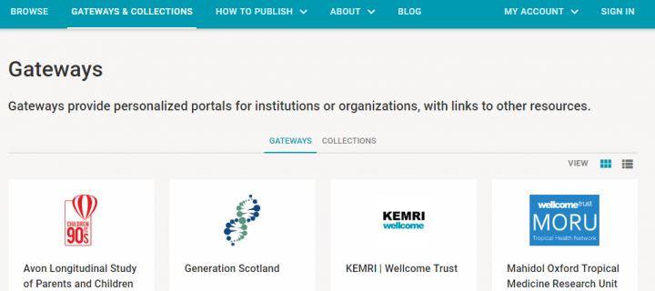 Wellcome Open Research Gateway Website Capture