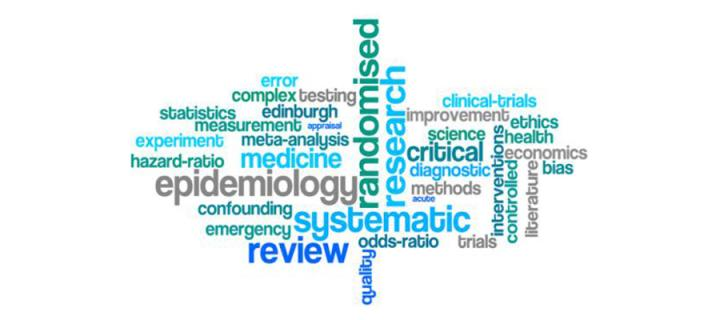 research methods course word cloud logo
