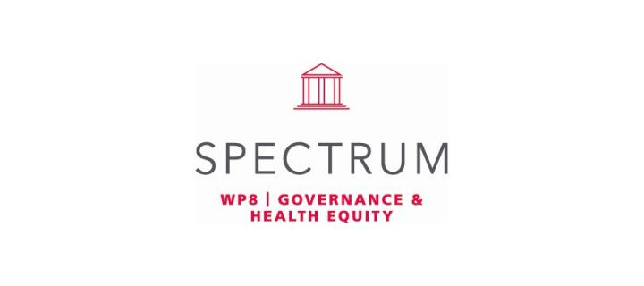 Icon with title of work package: governance and health equity
