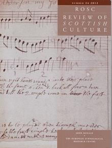 Cover of the Review of Scottish Culture: Volume 24