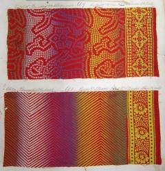 #0027Rainbow#0027 effect Turkey red printed fabrics
