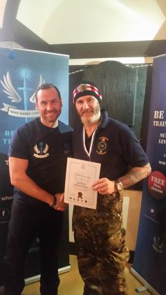 George Higgins (right), University of Edinburgh Security Officer, and Colin Maclachlan (left), co-founder of veterans' charity Who Dares Cares