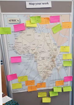 Collaborative map of African livestock projects