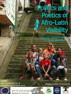 Poster for the Afro-Latin Visibility event
