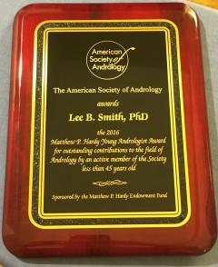 American Society of Andrology Award to Lee Smith