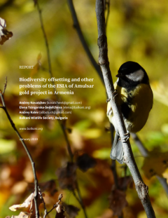 Biodiversity offsetting and other problems of the ESIA of Amulsar gold project in Armenia front cover of bird