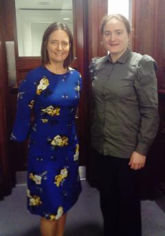 Carol Monaghan MP and Mairead Bermingham