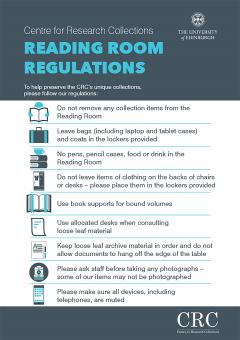 Reading Room Regulations