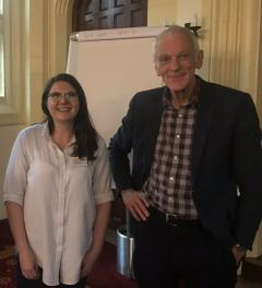 Daisy Arkell with Professor John Pearce