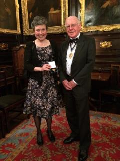 Gillian Mead receives the William Farr medal