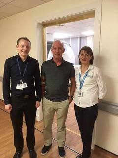 Investigate@SVDs firstpatient scanned by Dr Gordon Blair & Ms Iona Hamilton
