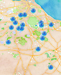 Supercytes activity map - Edinburgh & The Lothians