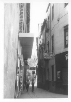 Photo of a street in Granada in 1968