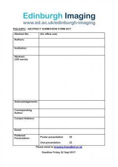 PhD Expo Form
