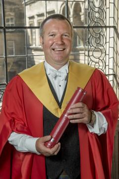 Jonny Kinross receives honorary degree